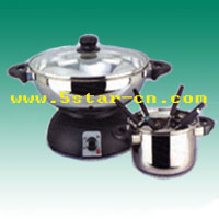 Electric wok three in one