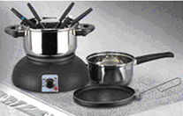 Electric wok set four in one