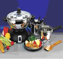 Electric wok set five in one