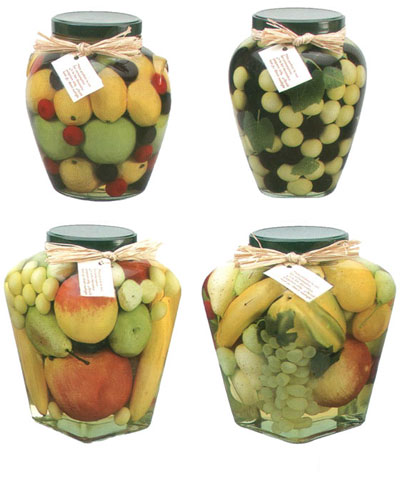 artificial fruit and vegetable decorative preserves jar