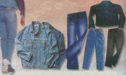 exporters of denim trousers, skirts, jackets, shorts