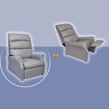 PU Recliner Furniture with ottoman
