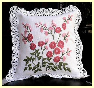 Embroidery cushion cover handmade