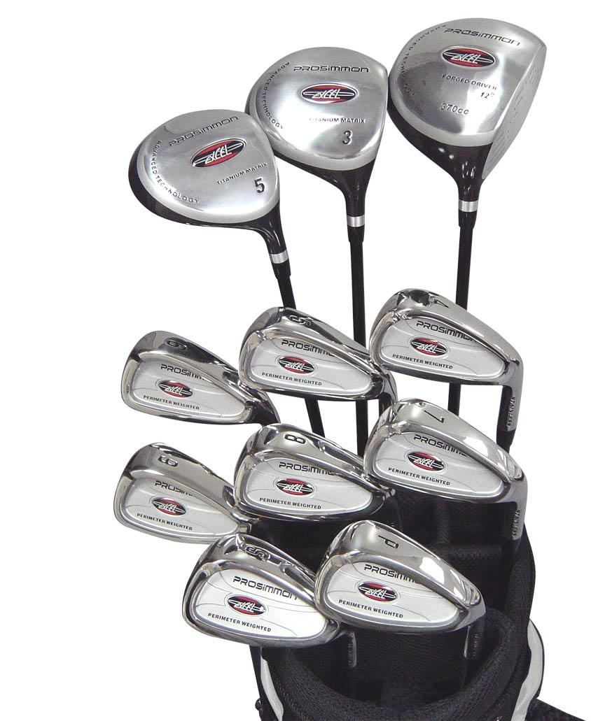 package woods / irons and golf bag