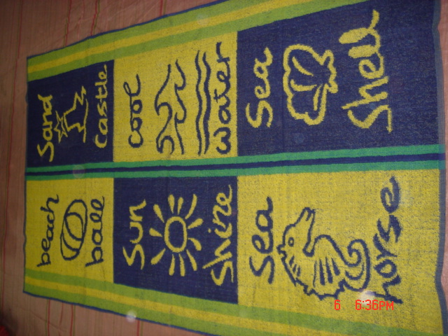 TERRY TOWELS, RUGS, TABLE CLOTH,