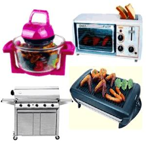 Barbecues appliances: toasters and grills