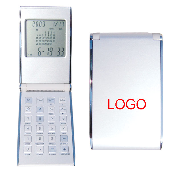 calculator with calendar in aluminium shell