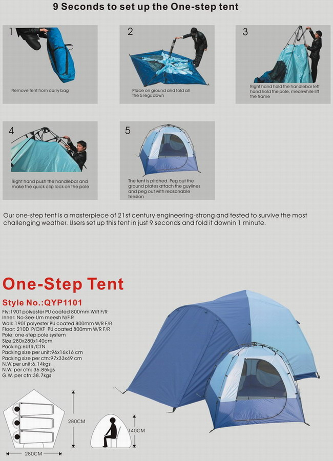 One Step tent
