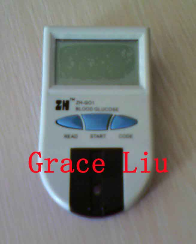 One Step Blood Glucose Test Strip and Meter