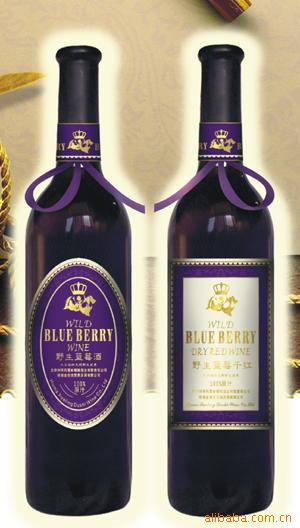 Wild blueberry wine(alcohol:7%) & Bluebery dry red wine(alcohol:11%)