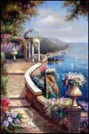 sell scenery garden oil painting