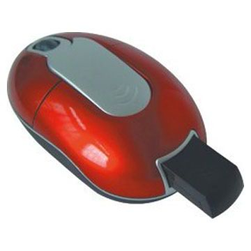 3D RF wireless optical mouse with built-in receiver
