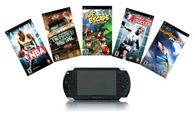 Sony PSP free leather case incl. 5 games