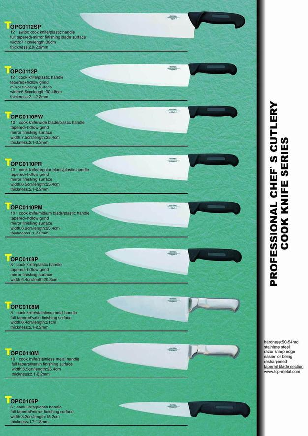professional chef's cutlery
