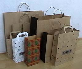 kraft paper bags, shopping bags, paper cups