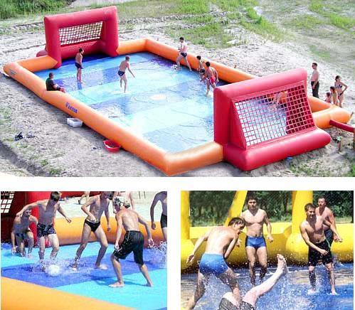 inflatble water soccer field