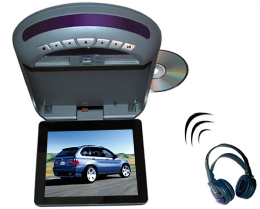 Roof-Mounted LCD Monitor with DVD and FM and TV and IR