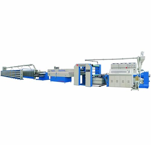 Plastic Extrusion And Stretching Machine
