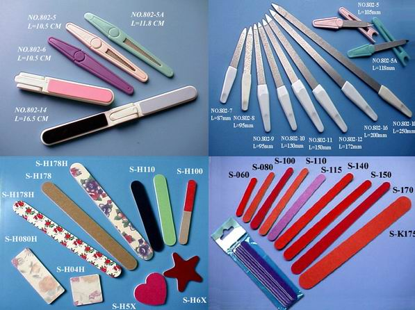Emery Boards,Nail Files, Nail cutter,Foot Files etc