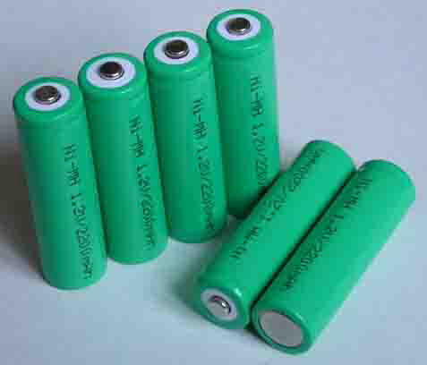 AA size NiCad and NiMh rechargeable batteries/packs
